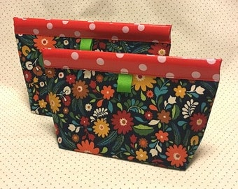 Meadow Flowers Snappy Pouch - 2 sizes
