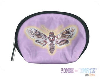 Deaths-Head Hawkmoth Purple Cosmetic Bag