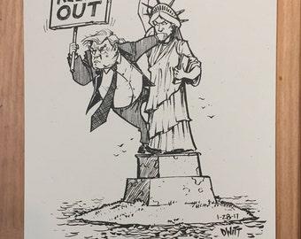 No Ban cartoon print