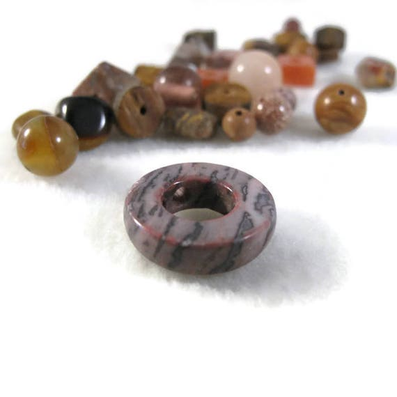 Brown Gemstone Bead Mix, Gemstone Grab Bag, 28 Beads for Making Jewelry, Assorted Shapes and Sizes (L-Mix7b)