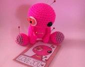 Amigurumi Pink Love Voodoo Doll