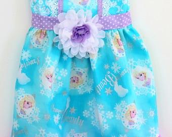 Frozen dress, Elsa dress,  disney dress, rapunzel dress, cinderella dress, belle dress,  girls dress, boutique dress, toddler dress