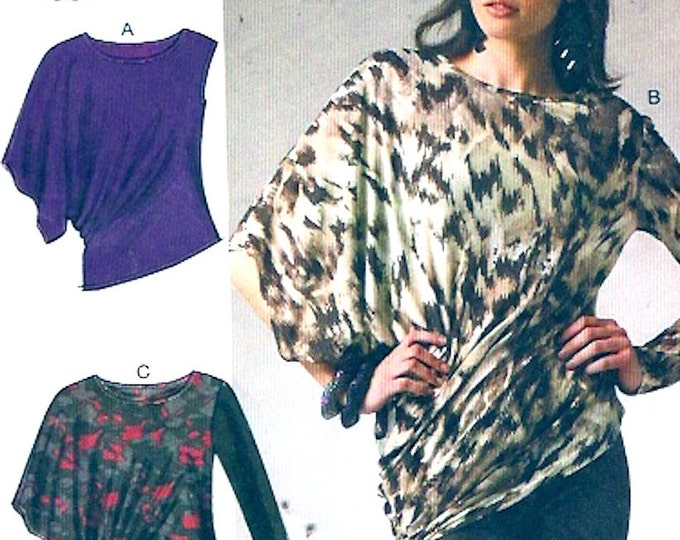 Plus size Fashion Palmer Pletsch knit tops casual spring summer Fall sewing pattern McCalls 6797 Sz XS to Medium or LG to XXL Uncut