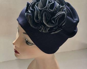 Jean Hat- Customer Favorite-Spring Hat-Summer Hat- Womens Gift - Slouch Hat- Skull Cap- Chemo Hat- Best Hat Ever- Cutest Hat- Blue Jean