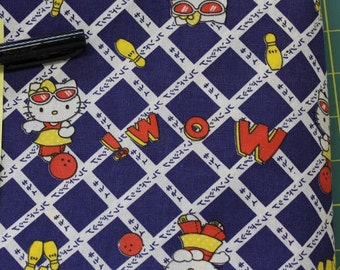 Hello Kitty Bowling !WOW 100% cotton  fabric