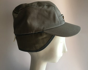 Hat Lee Brand Logo Branded Water Repellant Ski Hat Cap Size 7 Conductor Hat Ski Cap Light Grey Gray New Old Stock Deadstock
