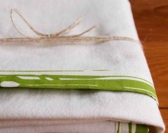 Organic Baby Blanket, Green Flannel Receiving Blanket, Handmade Baby Gift; Woodland Nursery, Gender Neutral Baby Blanket Gift in BOIS GRASS