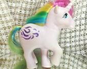 Vintage My Little Pony Windy MLP Rare G1 1983 Unicorn with Rainbow Hair