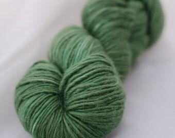 Dothraki colorway in Arya DK Singles-Alpaca/merino/silk- green