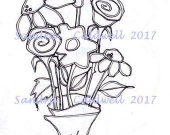 1577 Flower For U Digi Stamp