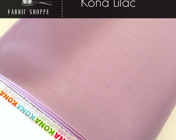 Kona cotton solid quilt fabric, Kona Lilac 1191, Purple fabric, Solid fabric Yardage, Kaufman, Cotton fabric, Choose the cut
