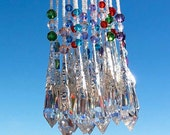 Crystal Prism Suncatcher - Rear View Mirror Car Charm - 40mm - You Choose Color