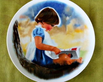"""Donald Zolan """"By Myself"""" Vintage Ltd Edition Collectors Plate"""