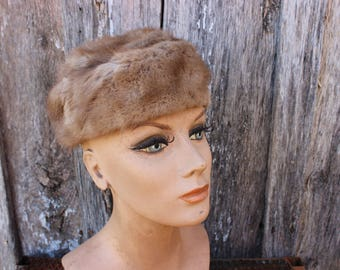 Vintage Levy's Memphis Light Brown Mink Fur Ladies' Hat
