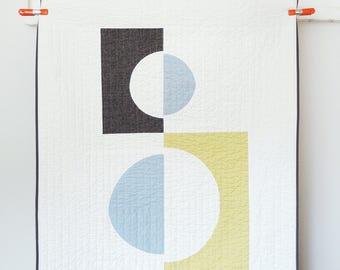 Mid-Century Modern Throw Quilt - Cutouts #1
