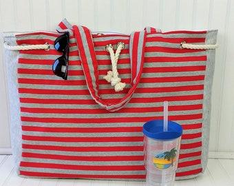 Extra Large Beach Bag - Big Beach Bag - Beach Bag Personalized - Beach Bag with Pockets - Beach Bags