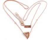 14k Rose Gold Heart of a Goddess Necklace | 14k Rose Gold and Diamond Necklace