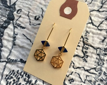 Crow Point Earrings - Lapis