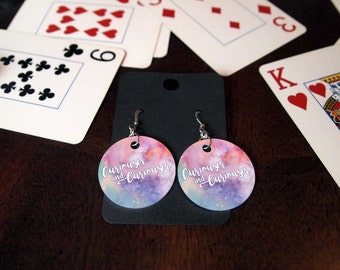 Curiouser and Curiouser Alice in Wonderland Earrings