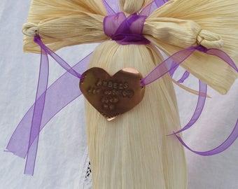 Rustic Angel - Sympathy Gift - Corn Husk Angel - Angel Decoration - Primitive Angel - Bereavement Gift - Folk Art Angel - Country Angel