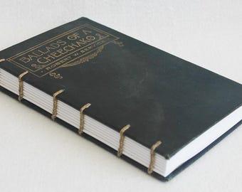 Vintage Book Journal / Recycled Old Book / Ballads of a Cheechako / Robert W Service Rebound Journal by PrairiePeasant