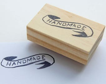 handmade rubber stamp / small business stamp