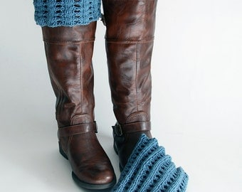 Denim Blue Boot Toppers