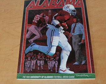 Alabama Football Media Guide 1984 Crimson Tide