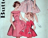 Vintage 60's Butterick 9321 Sewing Pattern, Girls' Dress, Party Dress, Size 7, 25 Breast, 1960's Fashion