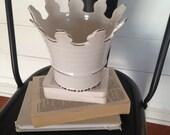 Creamy White Ceramic Crown