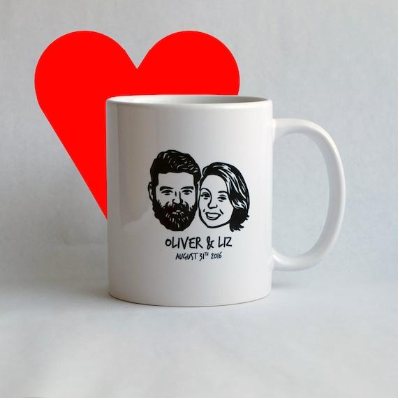 mug personnalis portrait de couple cadeau de mariage. Black Bedroom Furniture Sets. Home Design Ideas