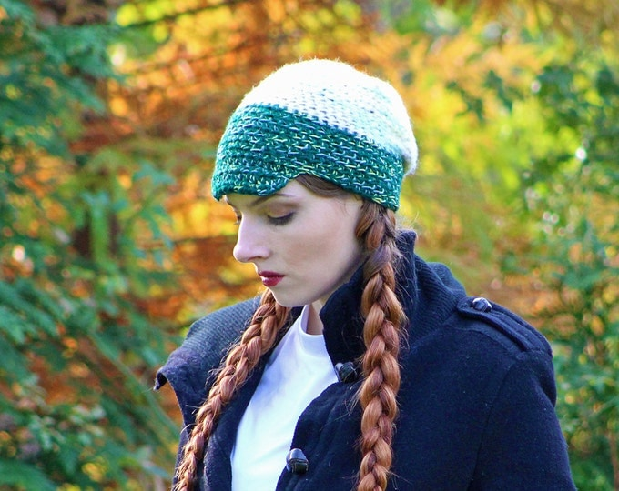 Green and Yellow Newsboy Hat Beanie Slouch Tam Billed Boys Winter Great Gift for Boy
