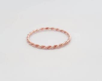 Twist Ring 14k Rose Gold Filled