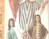 McCalls 9026 1960s Misses ABBA CAFTAN Pattern Womens EAsY Time Saver Quickie Vintage Sewing Pattern One Size Fits Bust 31 1/2 - 48