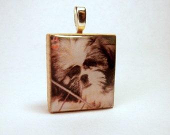 SHIH TZU Pendant / SCRABBLE / Charm / Necklace / Dog Gift / Unusual Handmade Jewelry