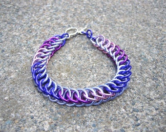 Twilight Sparkle Themed Chainmaille Bracelet - Lavender, Purple, Violet, and Pink - Share the magic of friendship!