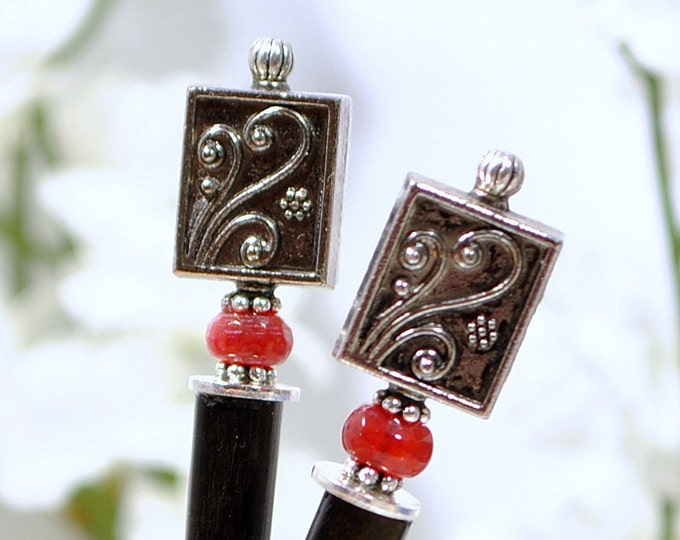 "Hair Chopsticks Handmade Hair Pins Embellished Hairpins Japanese Hairsticks - ""The Dream"""