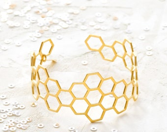 Kim Bracelet, geometric signature cuff, Scandinavian design