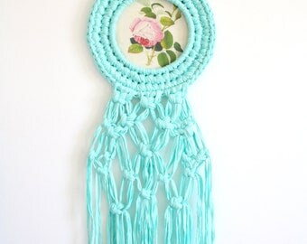 Macrame wall hanging / Crochet hoop wall art