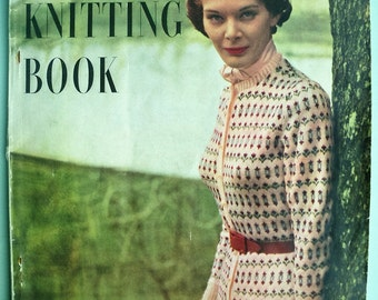 Vogue Knitting Book 1940s Vintage Patterns - No. 34 1949 - 40s original knitting patterns - women's sweaters cardigans twin sets