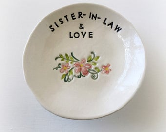 Sister in law gift bridesmaid wedding gift birthday gift handmade by Cathie Carlson