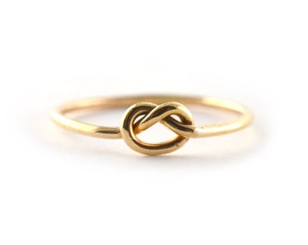 Forget Me Knot Ring, Stacking Ring, Stackable Midi Ring Thread