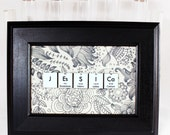 Chemistry Personalized Name-Sign//Science Gift//Floral Pattern