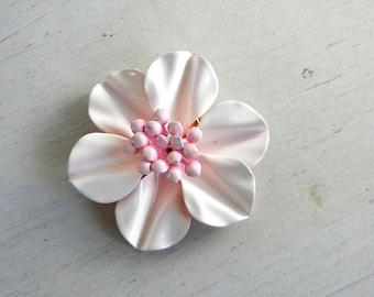 Enamel Flower Brooch | Pink Enamel Flower Pin | Vintage Jewelry | Vintage Flower Pin