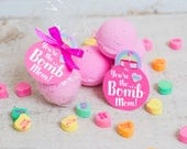 """printable Mother's Day bath bomb gift tag INSTANT DOWNLOAD """"You're the BOMB Mom!"""" easy print at home unique gift tags"""