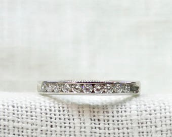 Vintage 14k Gold Diamond Wedding Band or Stacking Ring .36 Carats