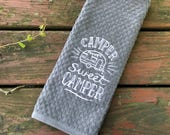 Camper Sweet Camper - Camping Towel - RV Towel - Camper Towel - Kitchen Towel - Camping Gift  Gifts for Men - Gifts for Him - Gifts for Her