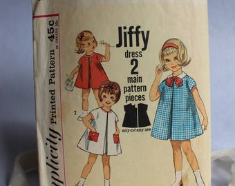 Vintage Girl's Dress Pattern, Simplicity 4872, Simple to Sew