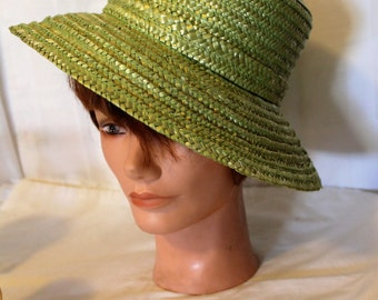Vintage Light Green Straw Hat
