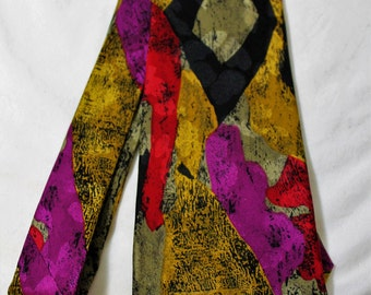 Vintage Reflections by ALBERT NIPON Abstract Silk Necktie, 3.75 Inches